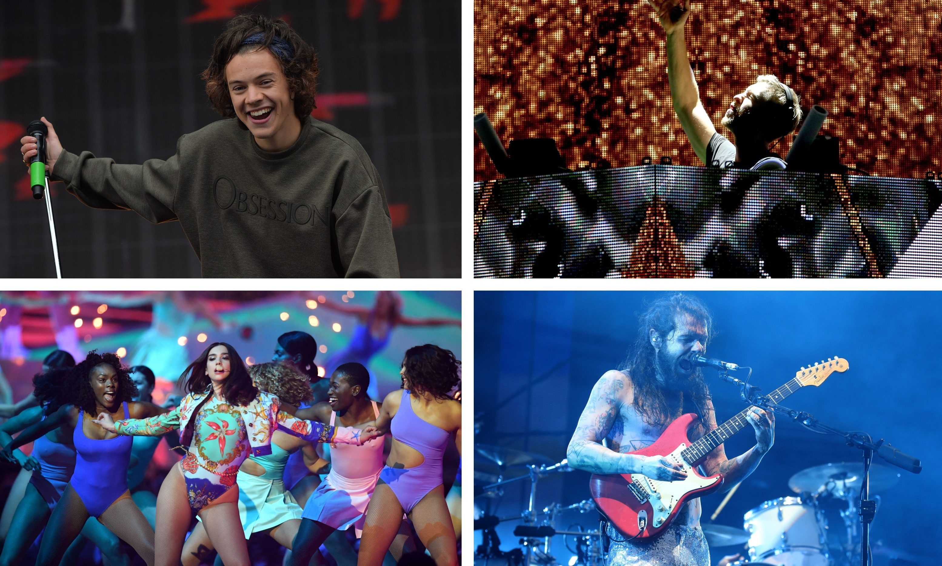 Harry Styles, Dua Lipa, Calvin Harris and Biffy Clyro were among the acts scheduled for the Big Weekend in Dundee.