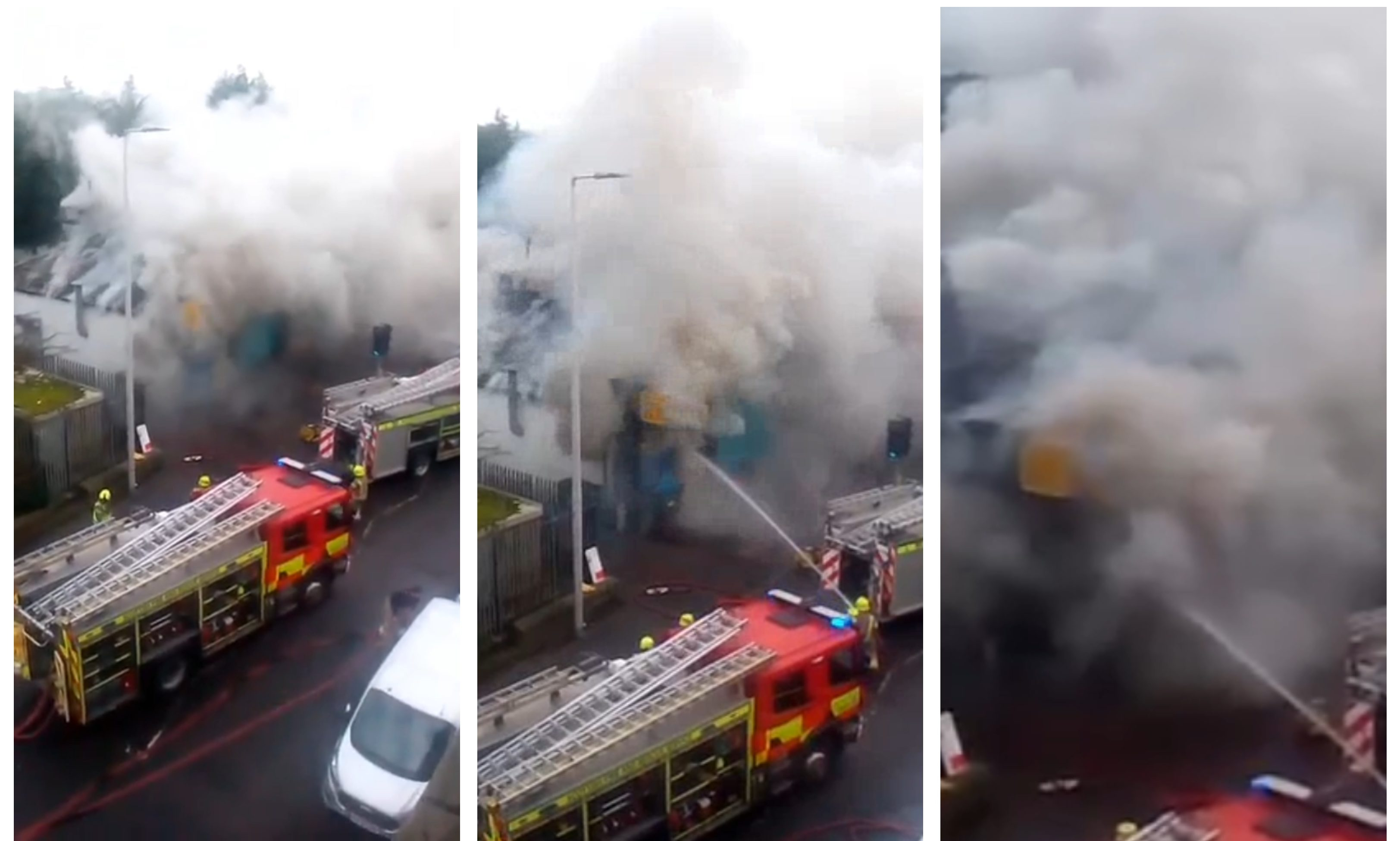 Footage shows the moment the blaze ripped through China China on Clepington Road, Dundee.
