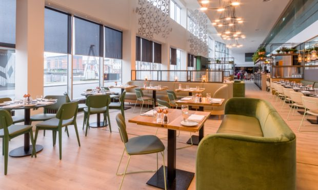 The restaurant at Apex City Quay Hotel and Spa.