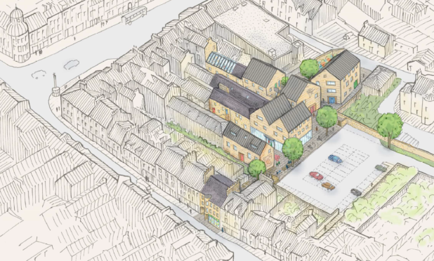 Cupar Development Trust unveiled a vision for a town centre in 2016.