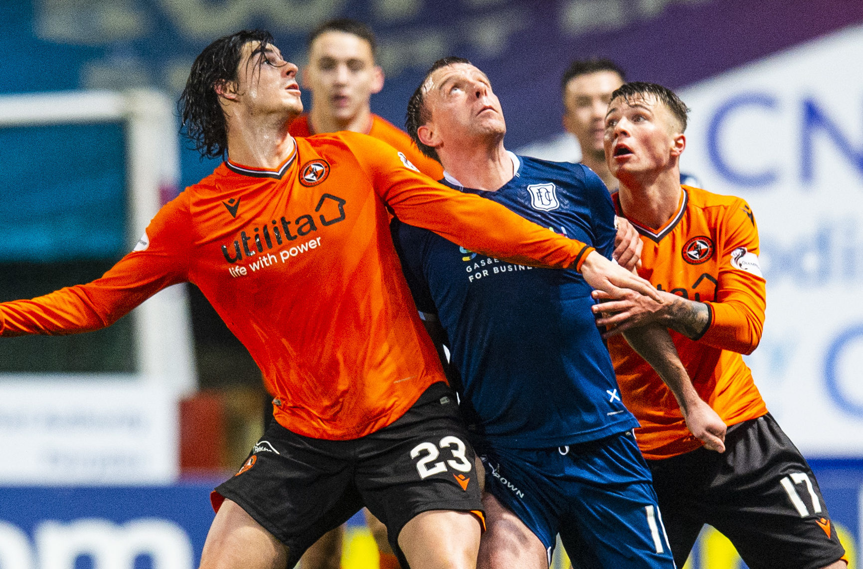 Looking up - Dundee and Dundee United.