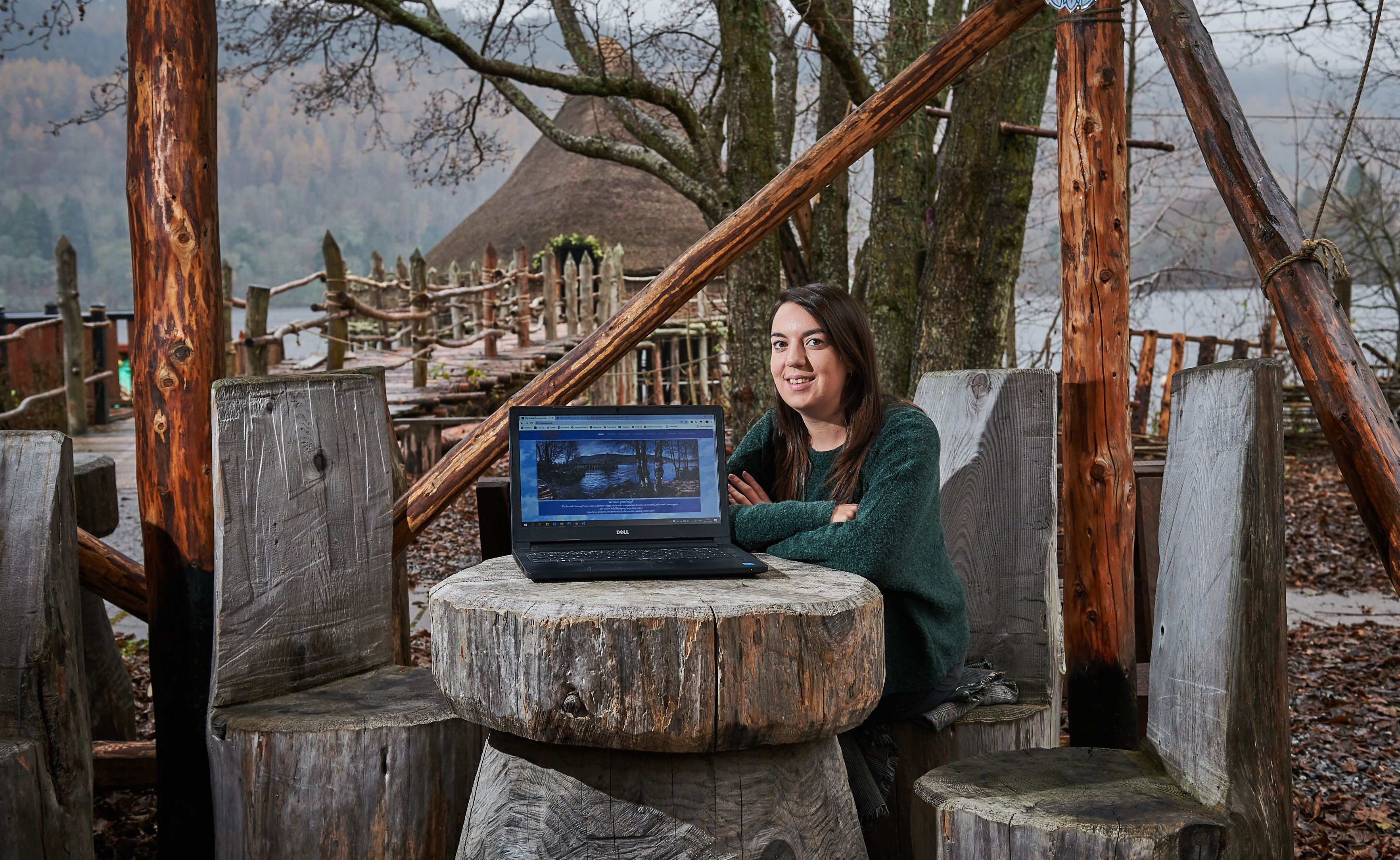 Ellen Pryde at the Scottish Crannog Centre, Kenmore.