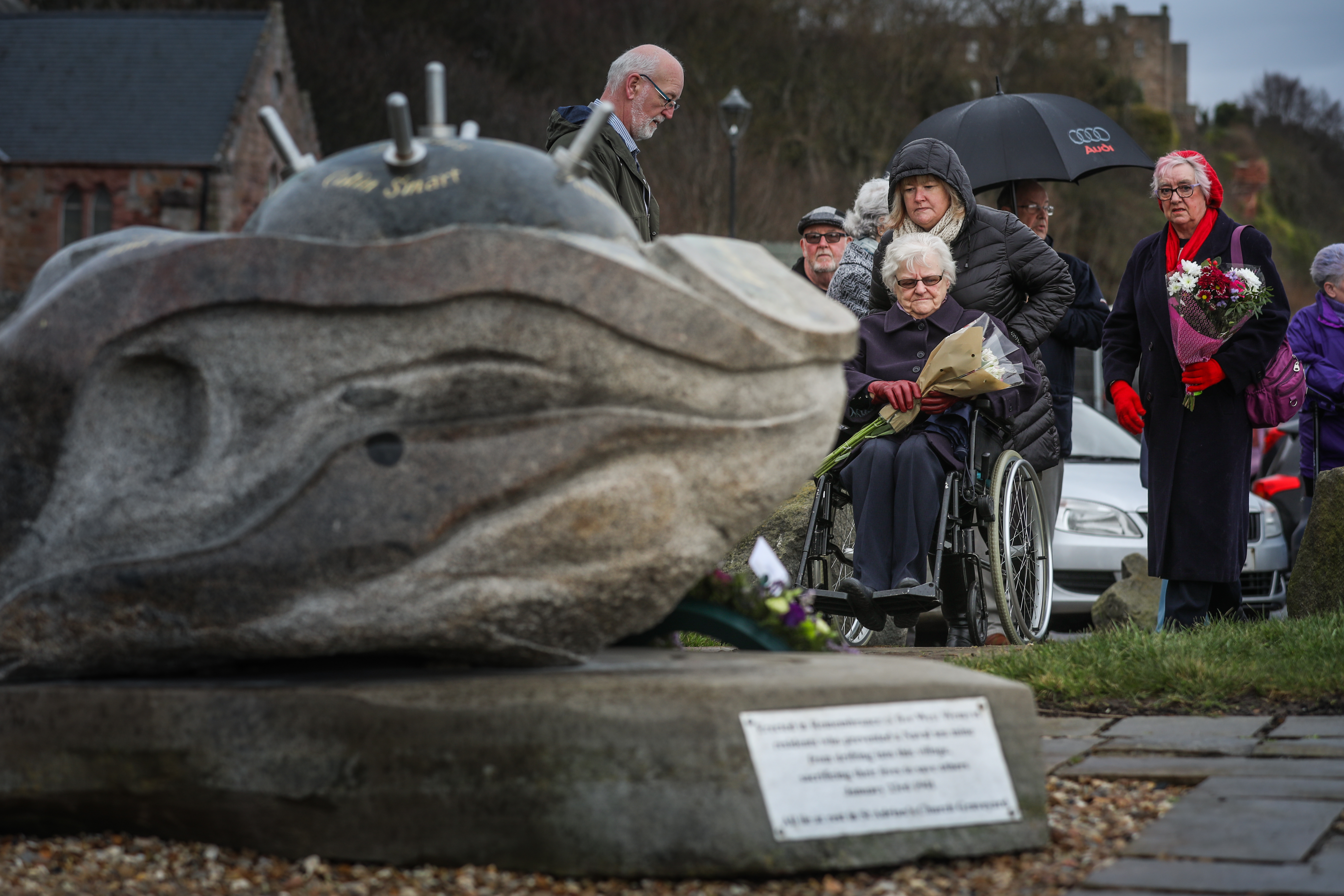 Community members gather for the commemoration