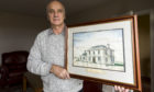 Stuart Gray with the print. Photograph by Jamie Williamson