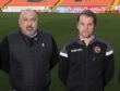 United sporting director Tony Asghar alongside Robbie Neilson