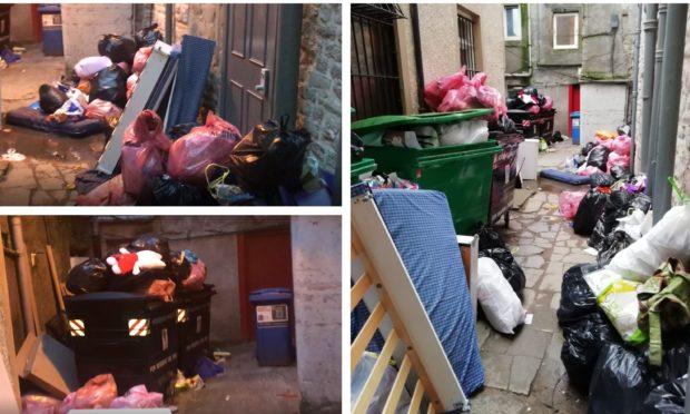 The rubbish in Skinnergate.