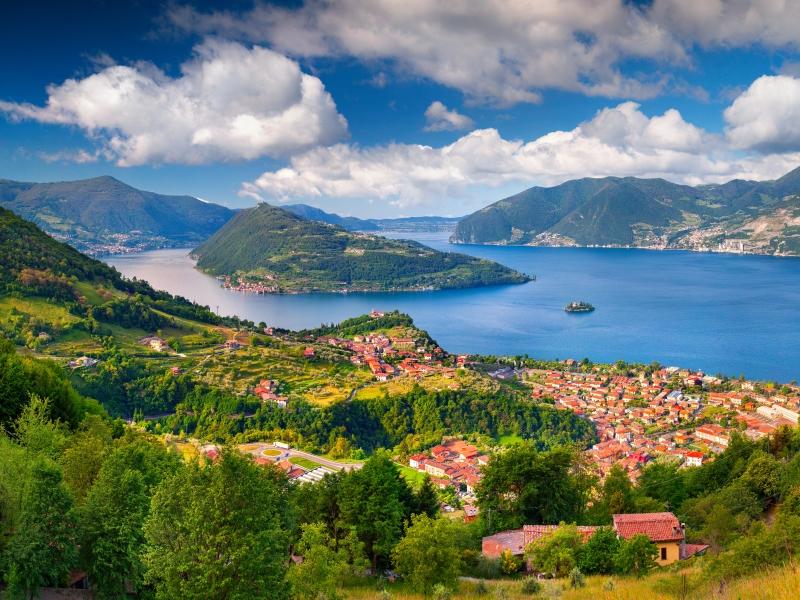 Lake Iseo, Italy.