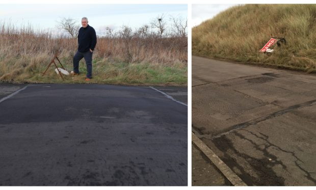 The speed bumps in Montrose have been removed.