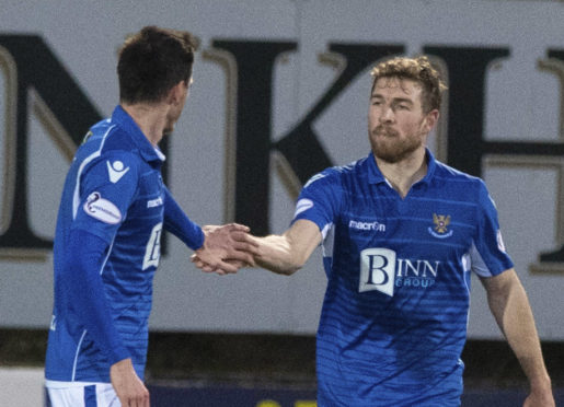 David Wotherspoon celebrates his goal.