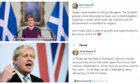Boris Johnson has responded to Nicola Sturgeon's request for Holyrood to be given the power to hold a fresh vote on Scottish independence.