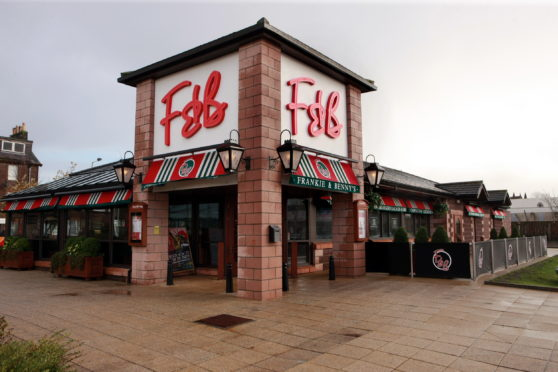 Frankie & Benny's at St Catherine's Retail Park in Perth.