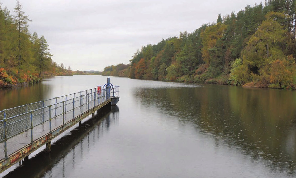 The reservoir sits at the foot of the Angus glens.