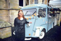 Ailsa Hayward of Artisana with Fleur the vintage van.