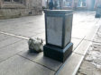 Statue head knocked off outside St John's Kirk in Perth City Centre.