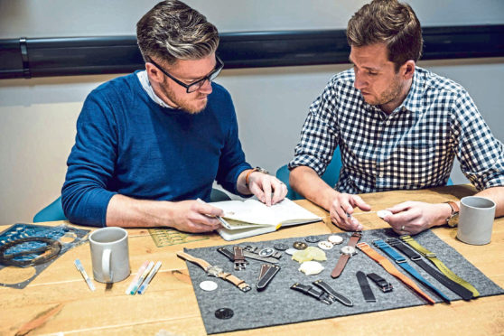 Marloe Watch Company general shots and  Co-founders of Marloe Watch Company Gordon Fraser and Oliver Goffe  (Left Gordon Fraser – chap with glasses, right Oliver Goffe.)