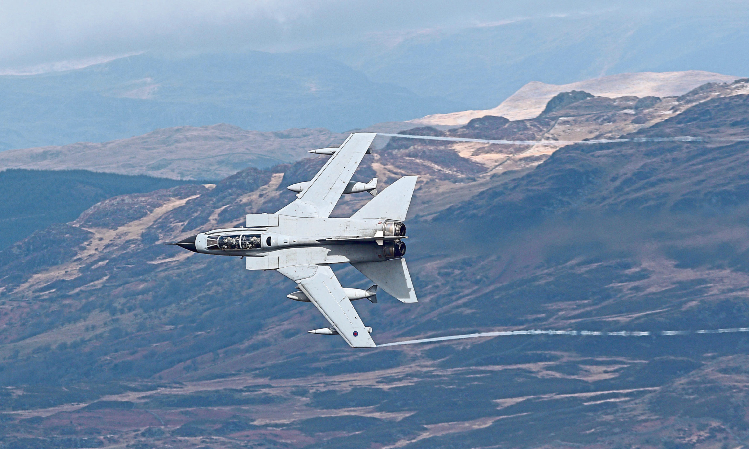 A Panavia Tornado GR4 during a training exercise.