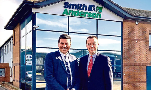 Business Minister Jamie Hepburn with Michael Longstaffe, Chief Executive Officer of Smith Anderson