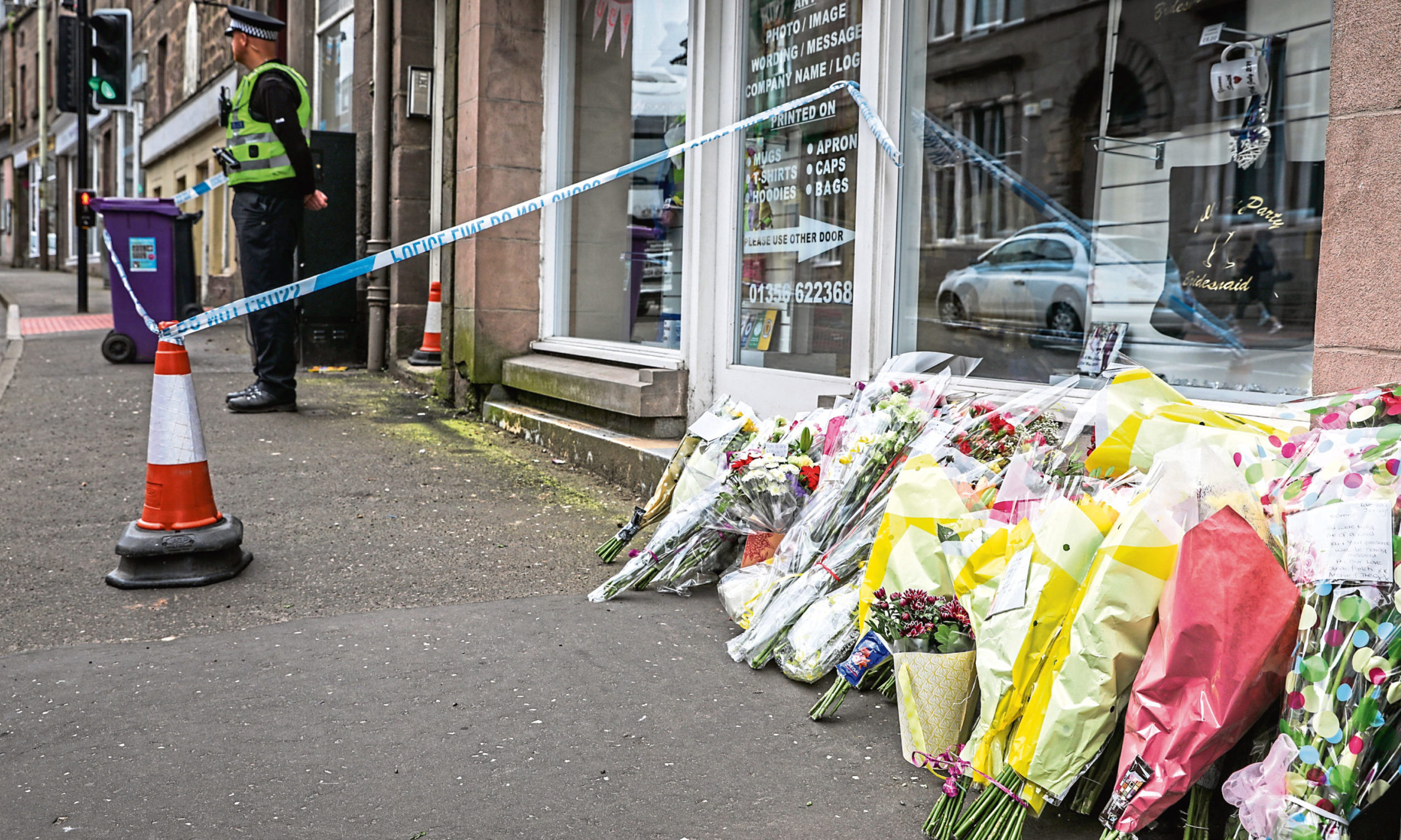 Tributes laid for Neomi Smith in Brechin following her death.