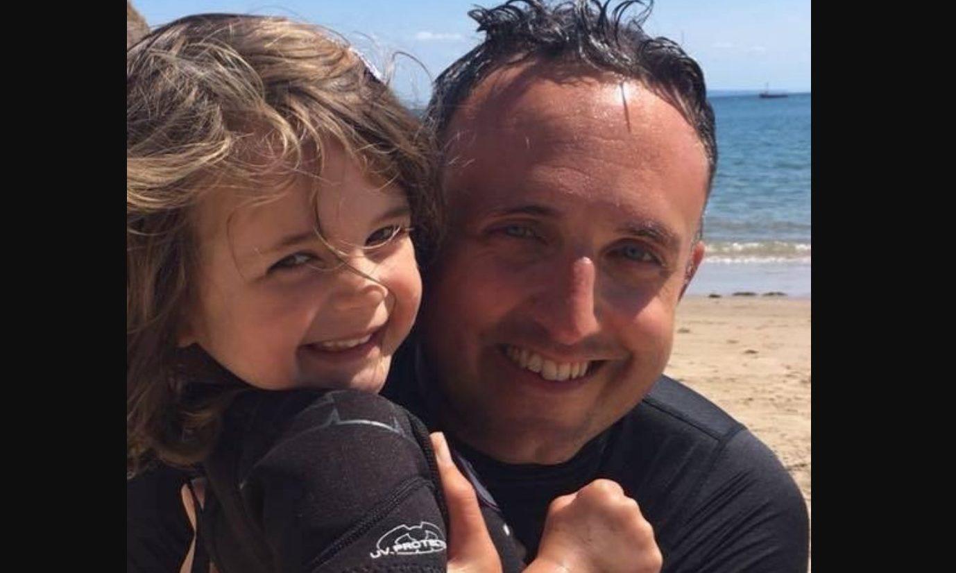 Alex Cole-Hamilton and daughter Darcy.