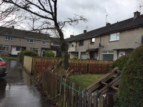 Iain and Shareem Smith had to flee their home in Bilsland Path, Glenrothes, when two household chemicals reacted.