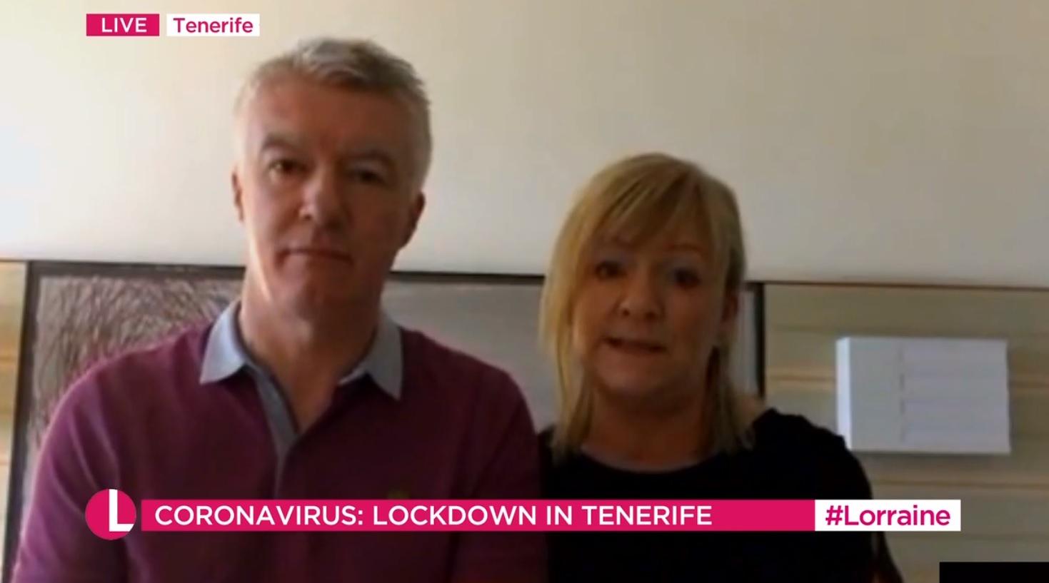 Steven and Susan McHardy on ITV's Lorraine programme.