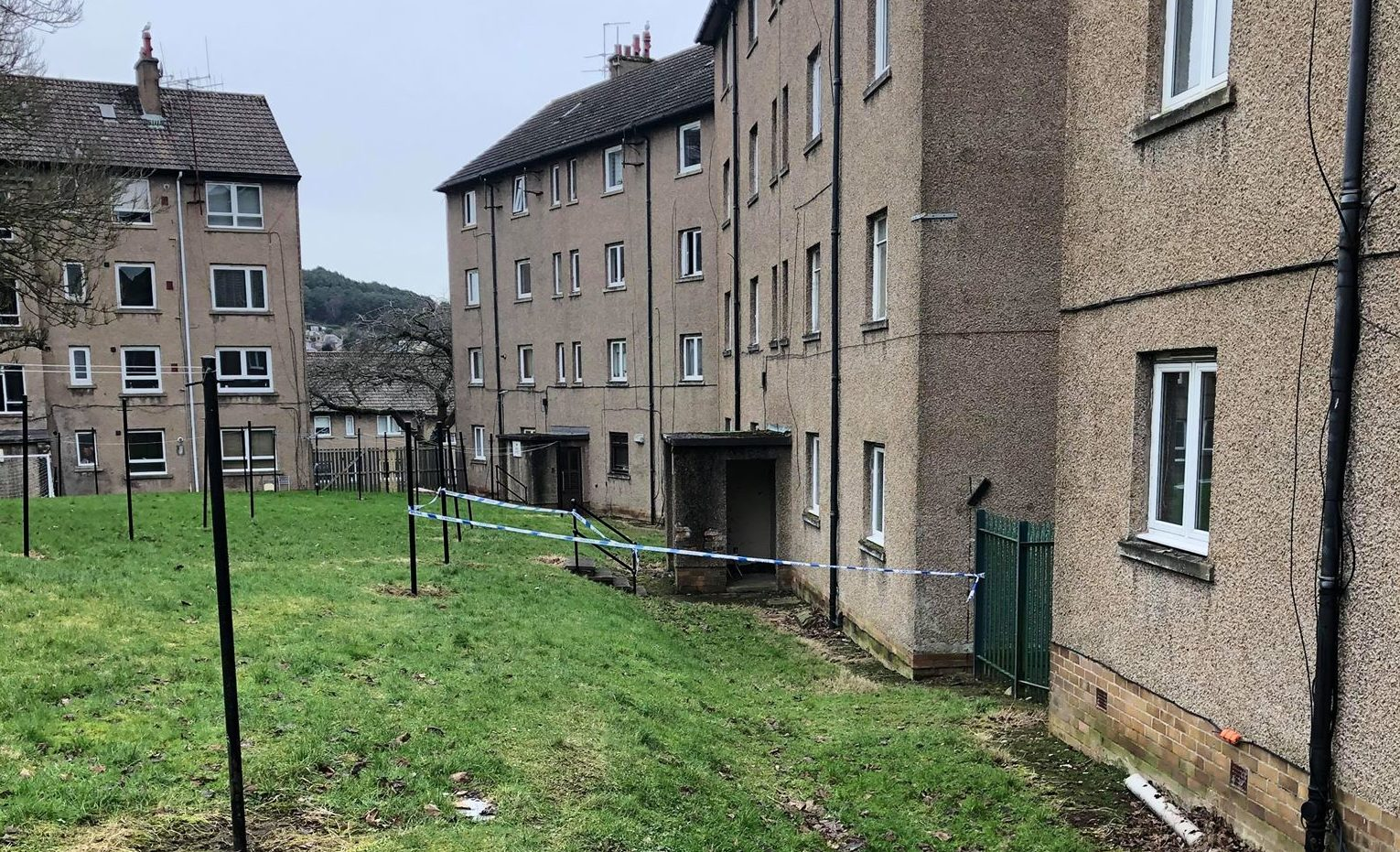 An area at Colinton Place has been cordoned off.