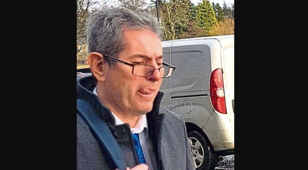 DLA assessor John Breen leaving Perth Sheriff Court after giving evidence in Beverley Dott fraud trial.