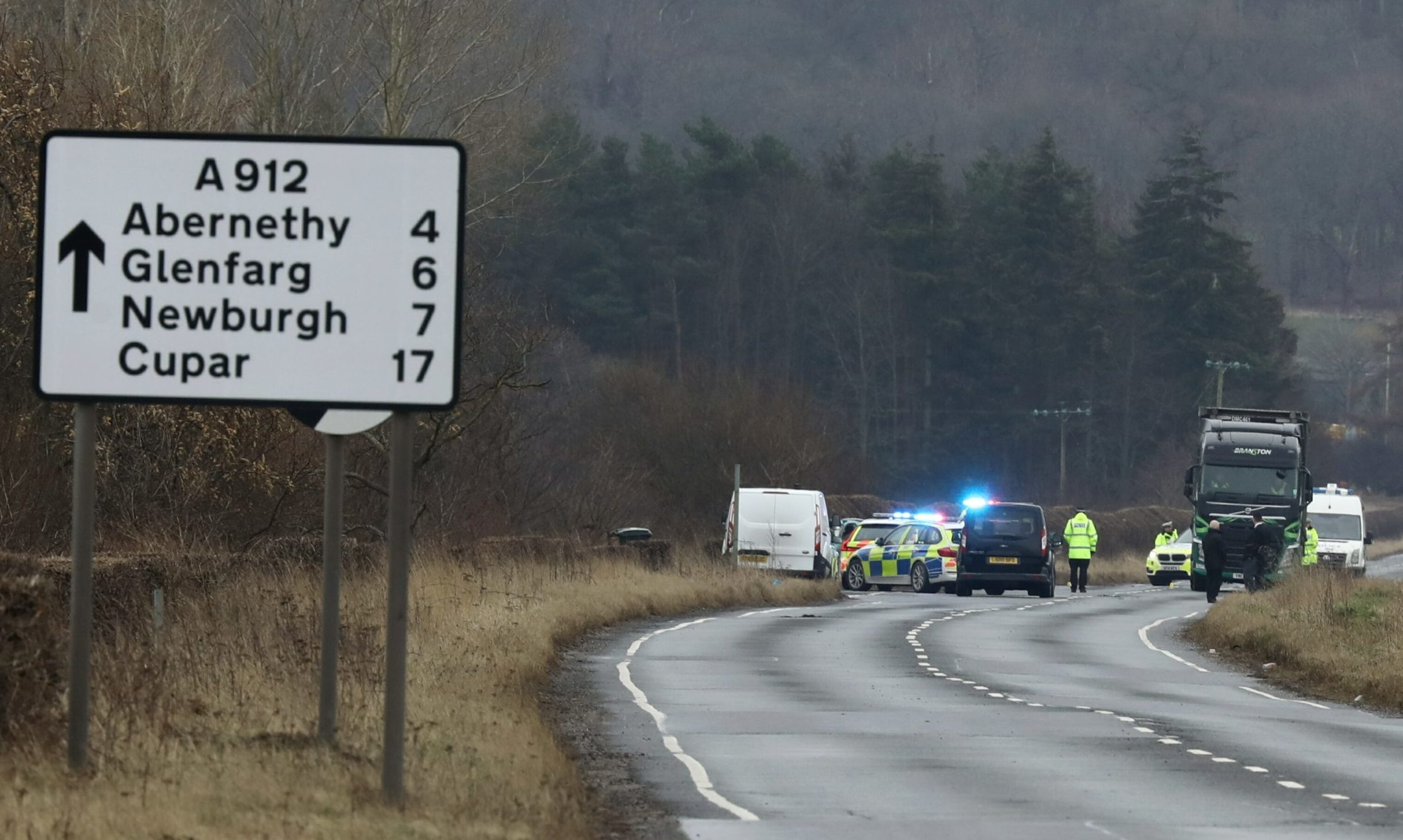 The accident on the A912.