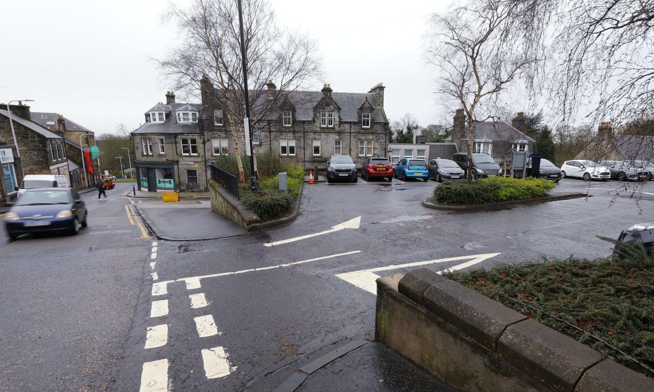 St Margaret Street in Dunfermline, where a pedestrian was fatally injured.