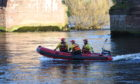 A search is under way along the River Tay in Perth.