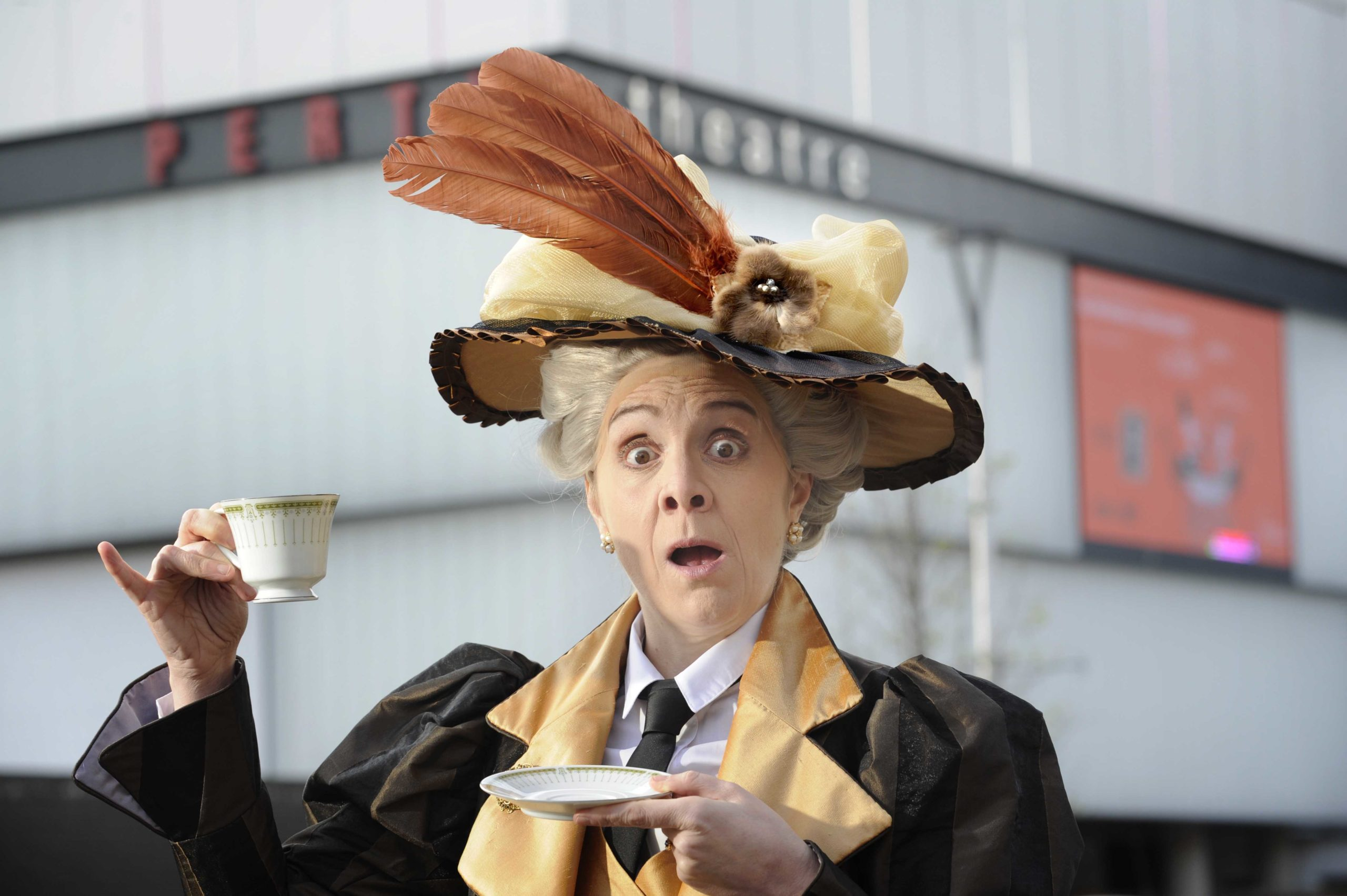 Karen Dunbar plays Lady Bracknell at Perth Theatre's new production of The Importance of Being Earnest.
