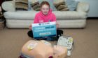 Rebecca Morrison, 11, has been teaching first aid to her fellow school pupils at Kilgraston School.
