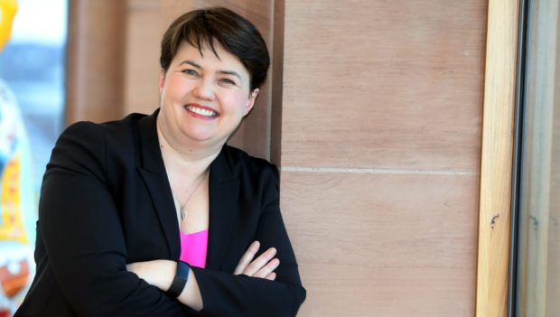 Courier Dundee news CR0019368 G Jennings pics Ruth Davidson at DCT Meadowside, tuesday 11th february,