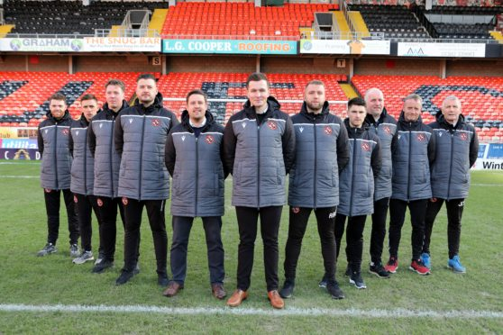 Andy Goldie alongside Dundee United's academy staff