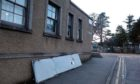 A section of the roof came off the Gregory Hall in Tayport due to the wind.