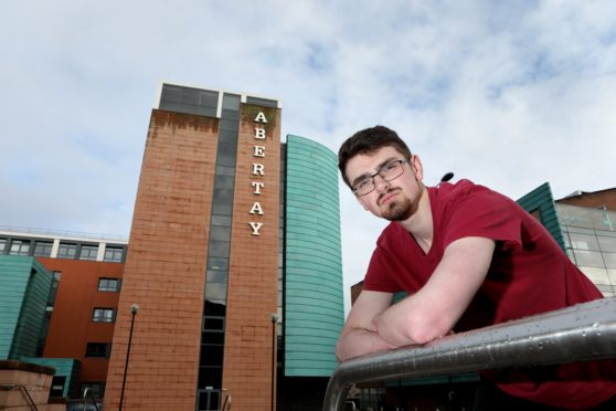 Owen Wright, from Abertay Students Association