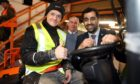 Humza Yousaf MSP visited the Westbank Centre to meet  trainee Craig Henderson and Councillor Chris Ahern.