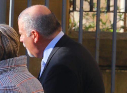 Ian Wilson leaving Dundee Sheriff Court