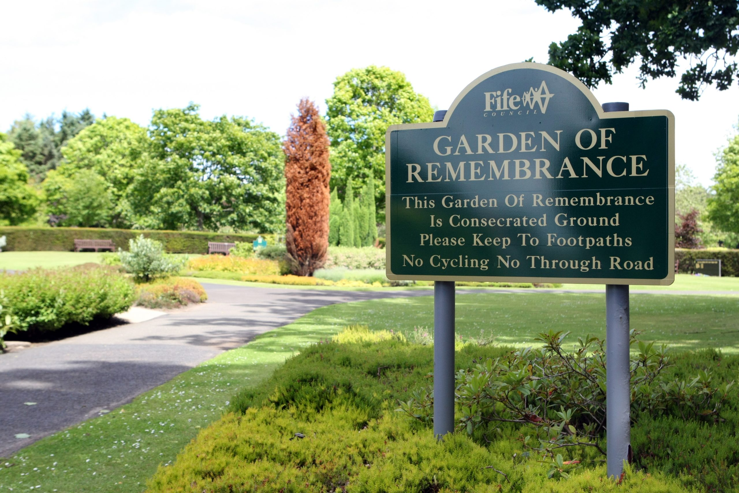 Kirkcaldy Crematorium and Rememberance Garden with Snowdrop Baby Memorial Garden.