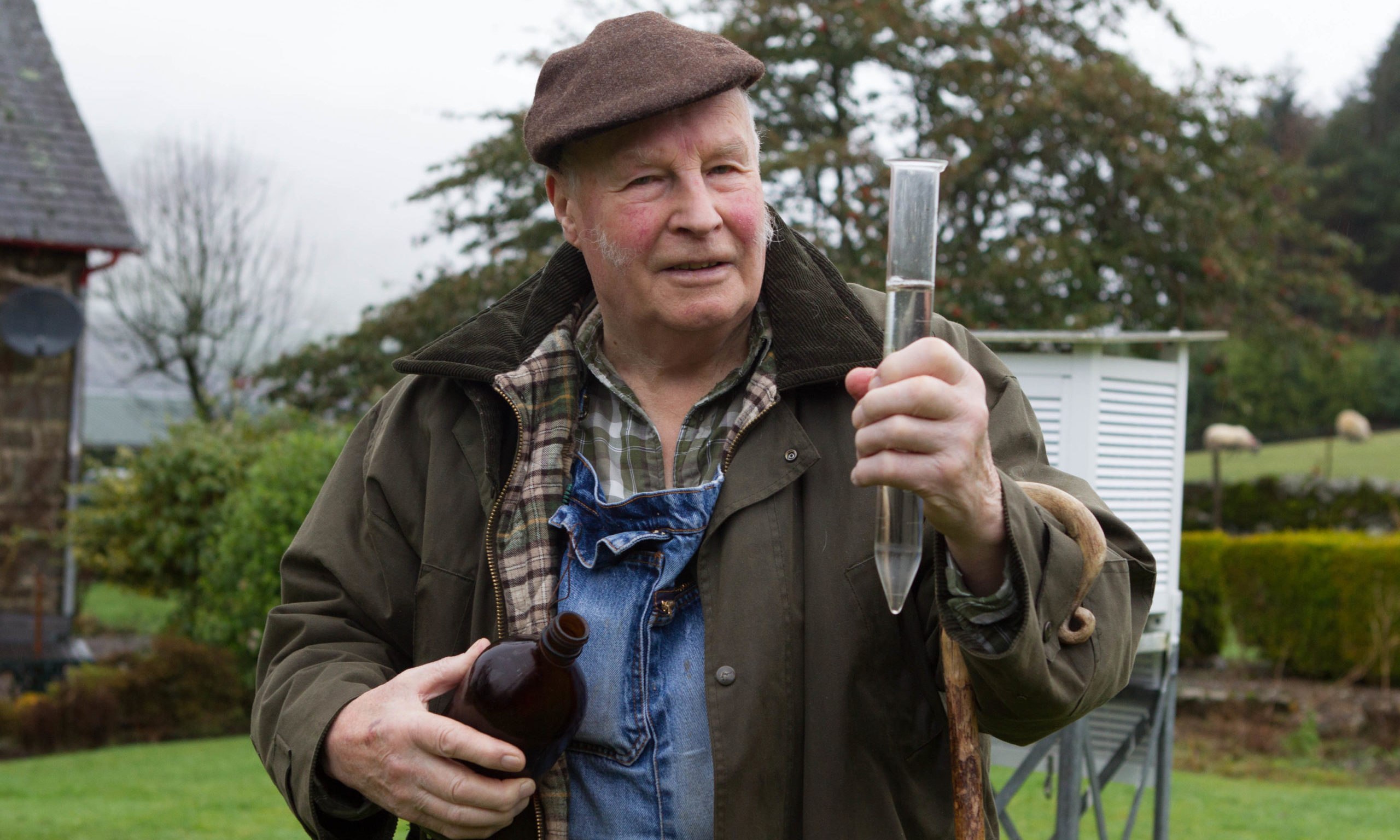 Mervyn collects data from his garden in 2016