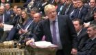 Prime Minister Boris Johnson speaks during Prime Minister's Questions in the House of Commons.