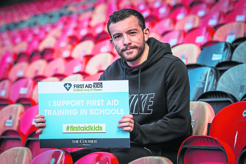 Paul McMullan backing the First Aid Kids campaign.