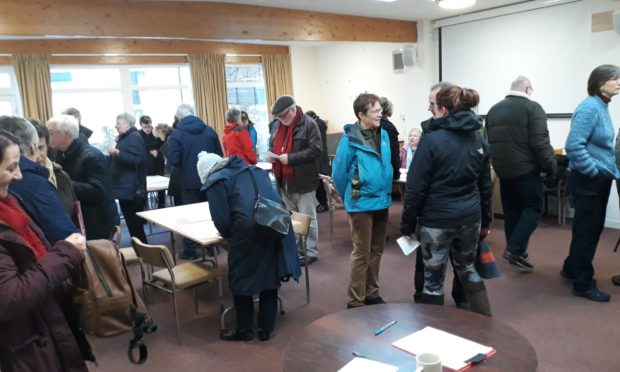 Scores of Pitlochry residents made their views heard.