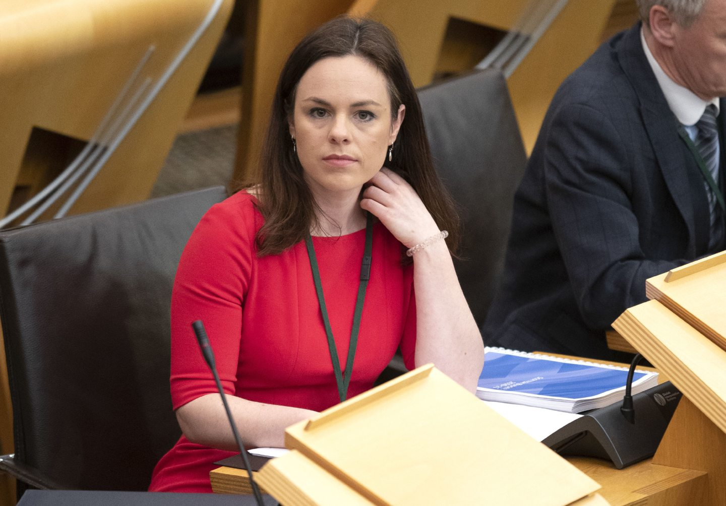 Kate Forbes on the way to deliver the Budget with First Minister Nicola Sturgeon.