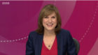 Question Time host Fiona Bruce.