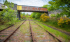 The disused railway line set to be brought back into use.