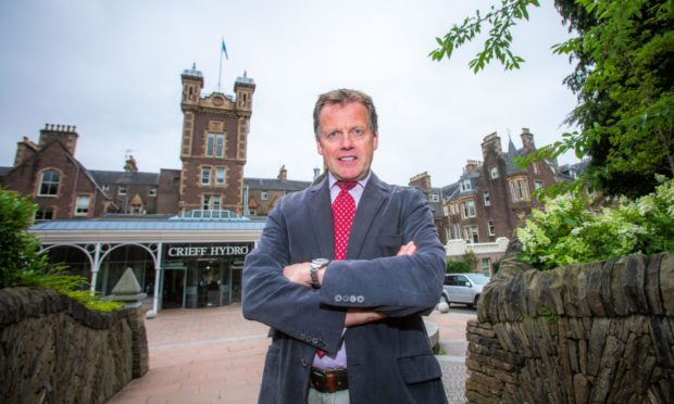Stephen Leckie outside Crieff Hydro in February 2020