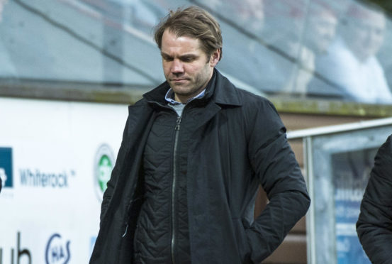 United boss Robbie Neilson after the Arbroath defeat.