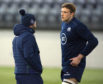 Jonny Gray with Scotland head coach Gregor Townsend.