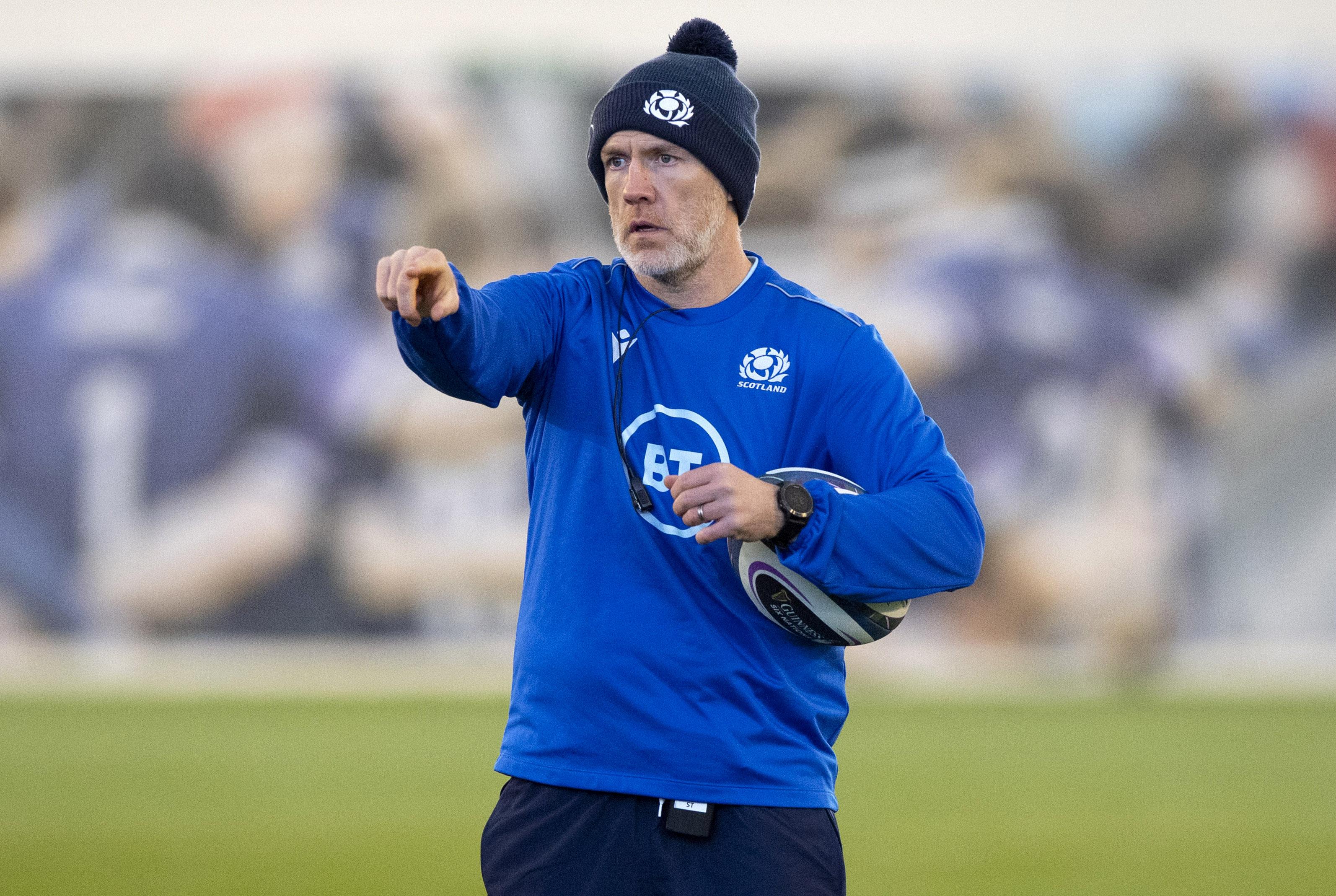 Scotland assistant coach Steve Tandy.